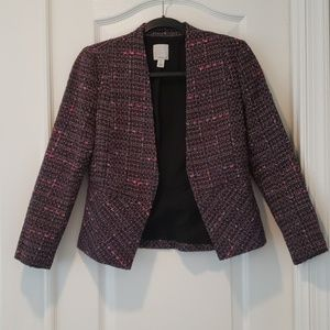 Halogen Pink and Purple Tweed Blazer